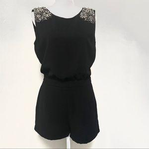 Zara | Black Embellished Romper